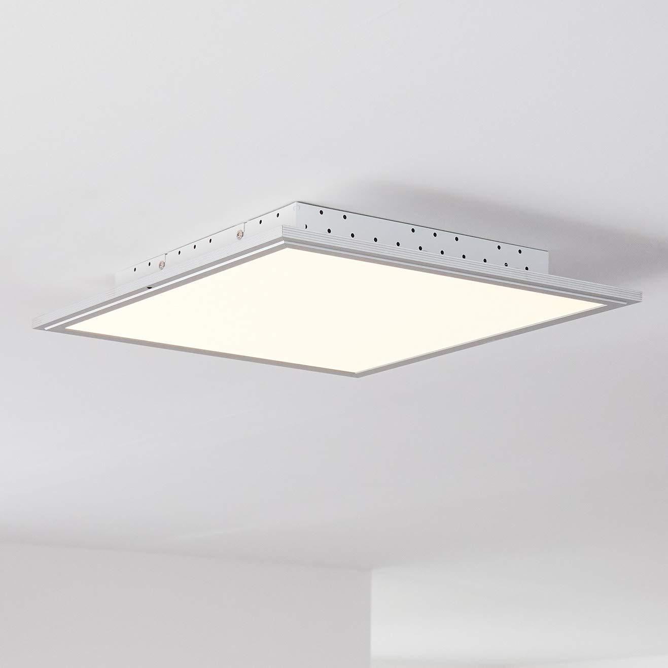 LED Panel Deckenleuchte 42x42cm, 1x 32W LED integriert, 1x 2500 Lumen, 2700-6200K, Metall Kunststoff, alu weiß