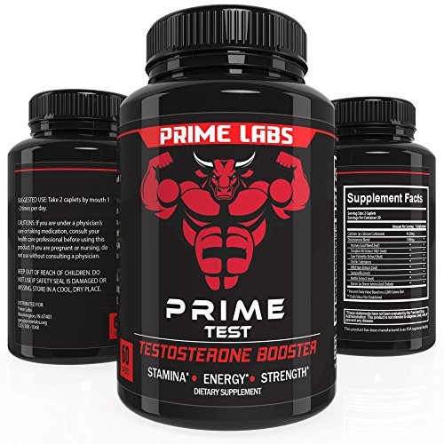 Prime Labs Men s Testosterone Supplement (60 Caplets) - Natural Stamina, Endurance and Strength Booster - Fortifies Metabolism and Sexual Libido - Promotes Healthy Weight Loss and Fat Burning