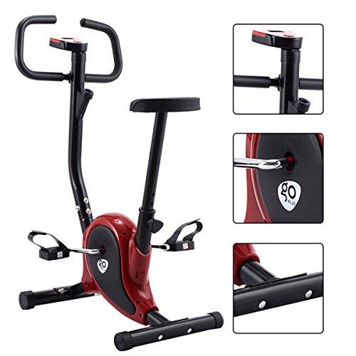 Goplus Upright Bike Exercise Bike Bicycle Exerciser Magnetic Stationary Fitness Cycle Cardio Aerobic Equipment