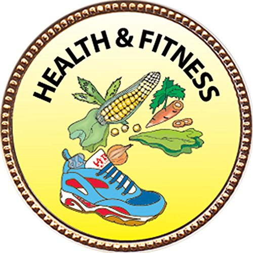 Health & Fitness Award, 1 inch dia Gold Pin 'Personal Skills Collection' by Keepsake Awards