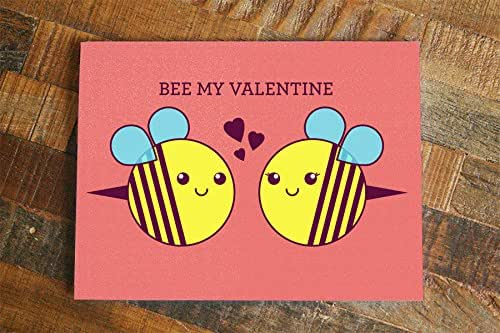 Amazon Com Valentines Day Card Bee My Valentine Cute Bees