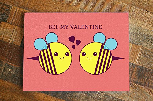 Amazon Valentines Day Card Bee My Valentine cute bees – Funny Valentines Day Cards for Husband