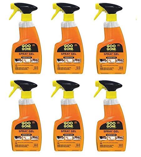 Spray Gel Cleaner, Citrus Scent, 12 oz Spray Bottle, 6/Carton