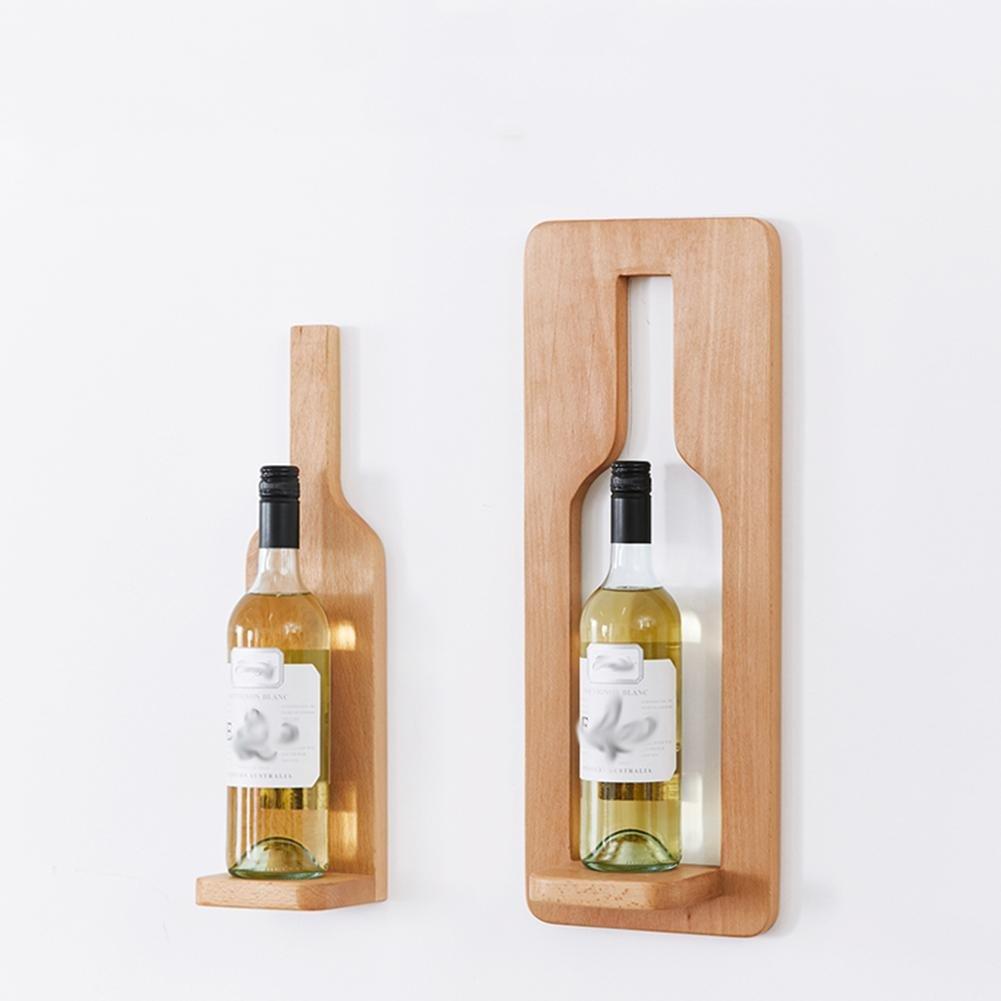 Z&YQ Casier à vin en bois massif Tenture murale restaurant Étagères de ménage Moderne minimaliste  - wood color