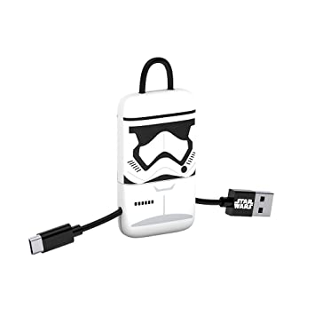 Tribe Stormtrooper - Llavero USB/MicroUSB, Color Blanco y Negro