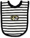 NCAA Missouri Tigers Infant Stripe Knit Bib, One Size, Black/White