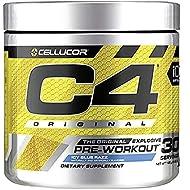 Cellucor C4 Original Pre Workout Powder Energy Drink w/Creatine, Nitric Oxide & Beta Alanine, ICY Blue Razz, 30 Servings