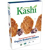 Kashi Breakfast Cereal, Organic Blueberry Clusters, Non-GMO Project Verified, Bulk Size, 134 Ounces (Pack of 10, 13.4 oz Boxes)