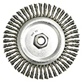 Radnor 6'' X 5/8'' - 11 Carbon Steel Stringer Bead Twist Knot Wire Wheel Brush For Use On Bench/Pedestal, Die And Right Angle Grinders