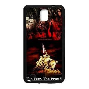 Fantasy Fashion Design Marine Corps Metal Pattern Samsung Galaxy note 3 Case Cover (Laser Technology)