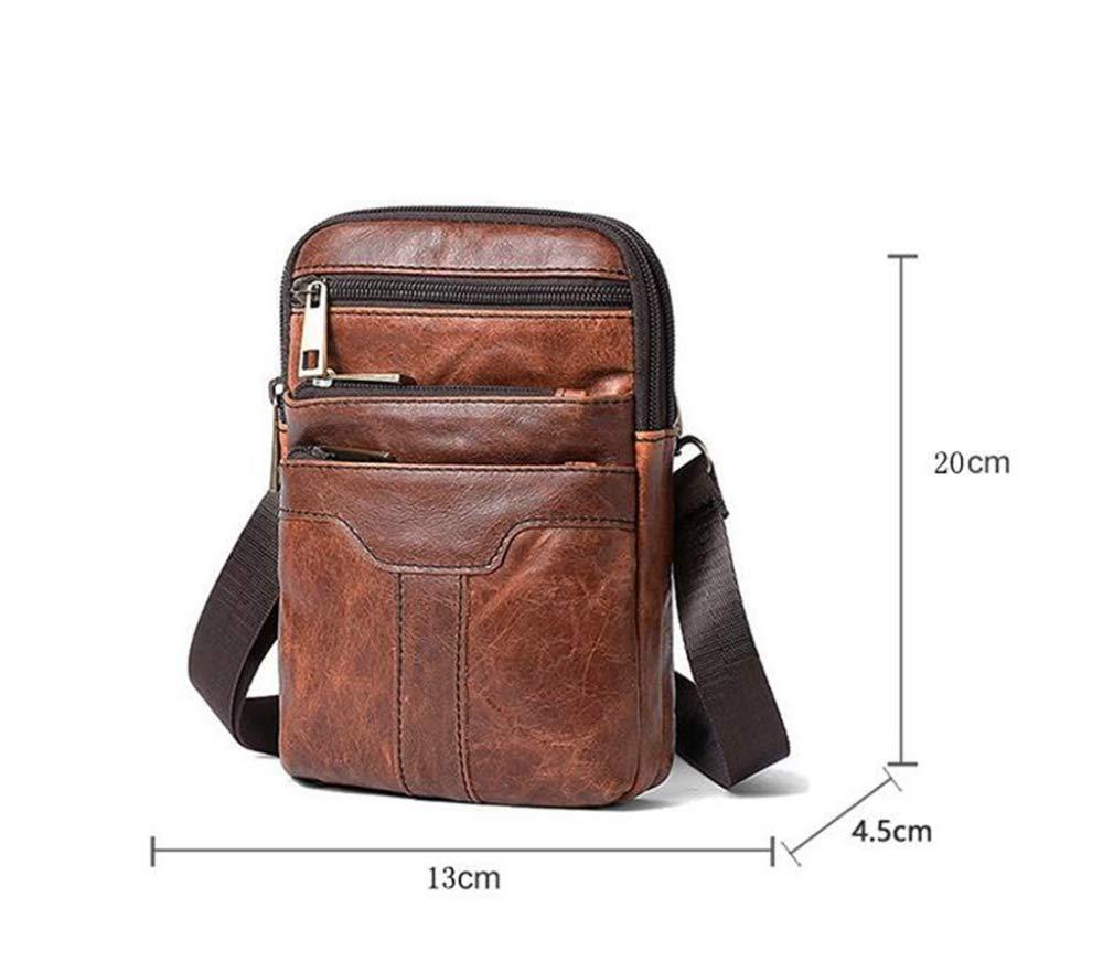 Sxuefang Mens Shoulder Bag Mens Messenger Bag Male Bag Retro Multifunctional Single Shoulder Crossbody Bag Male Waistband 20x4.5x13cm