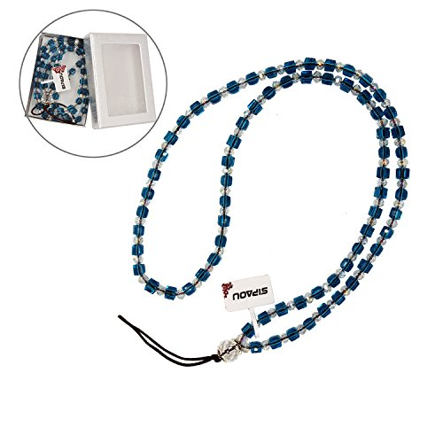 Bling Neck Crystal Beads Lanyard Phone Strap For Cell Phone Camera ID Card Mp3//4