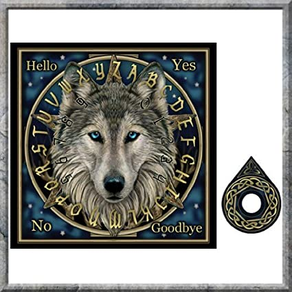 Ouija Board ~ Spirit Board ~ Mystical ~ Wolf Design by Nemesis ...