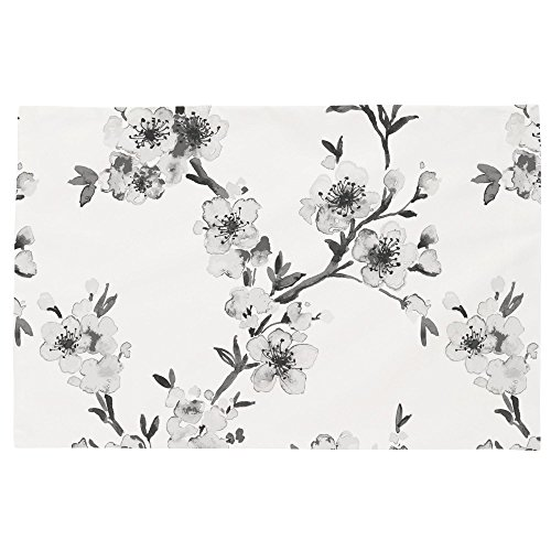Carousel Designs Gray Cherry Blossom Toddler Bed Pillow Case by Carousel Designs