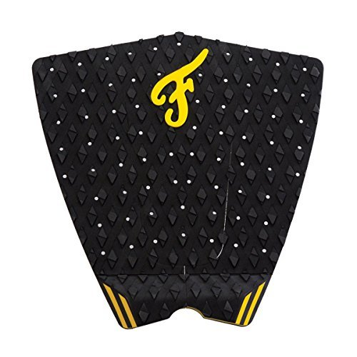Famous Filmore Surf Traction Pad, Black/Yellow - Famous Traction Pads