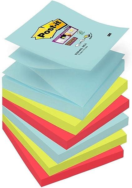 Post-It Super Sticky - Pack de 6 Blocs Notas, Diseño Miami ...