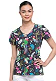 dickies EDS V-Neck Scrub Top, XS, Look Who's Squawking