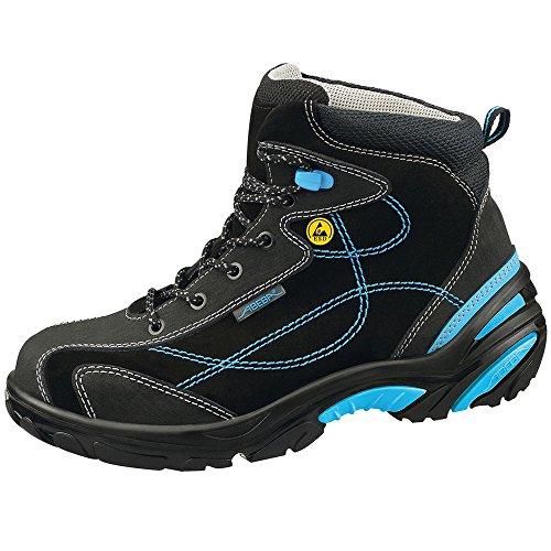 Abeba Uni6 Chaussure de sécurité bottes ESD Taille 42 Noir/Bleu