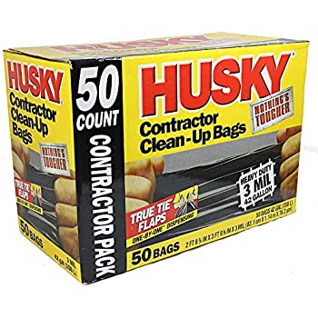 Amazon Com Husky 42 Gallon Contractor Clean Up 3 Mil
