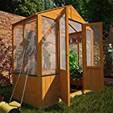 BillyOh 3' x 6' Lincoln Wooden Polycarbonate Greenhouse