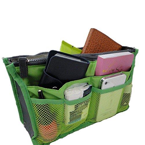 il dell'organizzatore della cosmetico Green borsa tasche black di 12 Lyuboov corsa sacchetto inserisce T4AWpFx8q