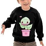 Puppylol Cute flytrap Kids Classic Crew-Neck Pullover Sweatshirt Black