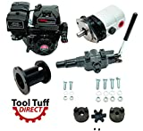 Tool Tuff Log Splitter Build Kit - 15 hp Electric-Start Engine, 28 GPM Pump, Auto-Return Valve, Coupler & Hardware