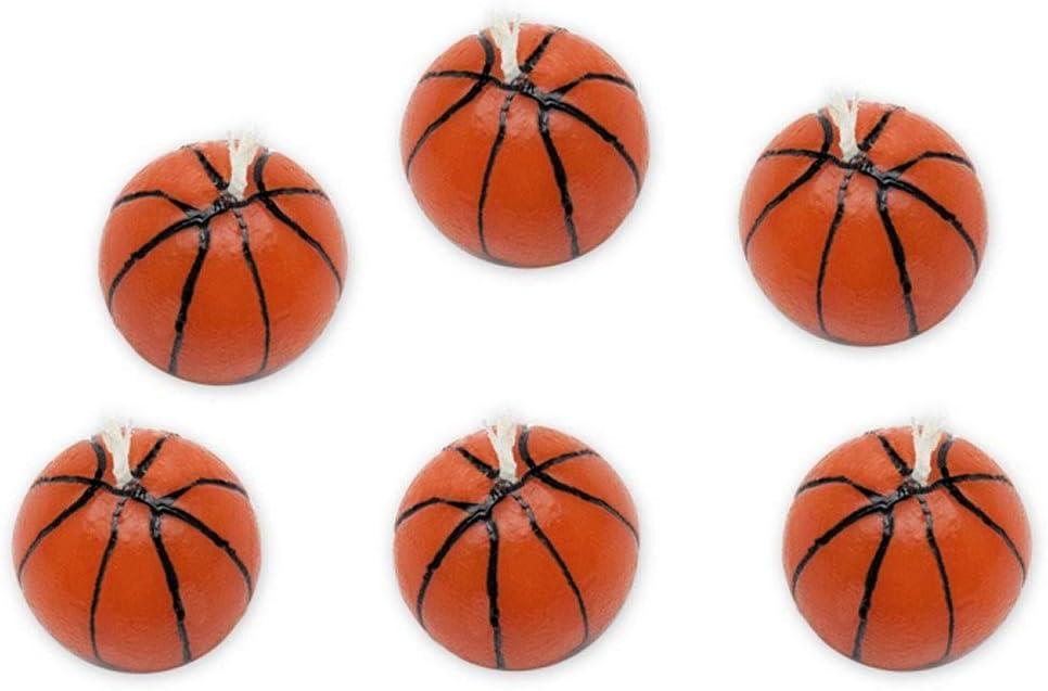 BIG Party 6 Velas con Forma de balones de Baloncesto, Color ...