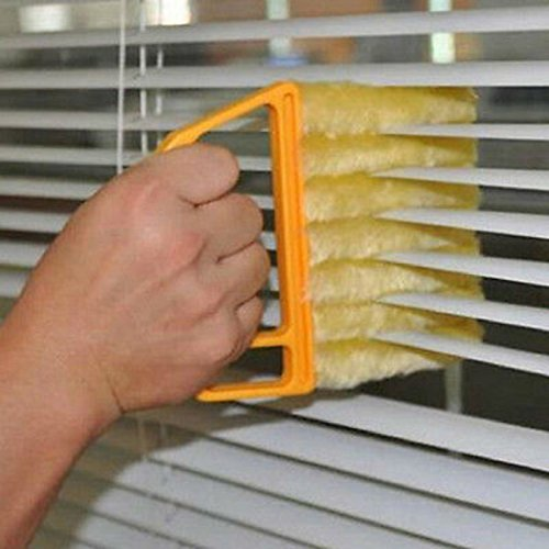 VT BigHome Creative Microfibre Venetian Blind Blade Cleaner Window Conditioner Duster Cleaning Brush Magnetic Brush For Washing Windows