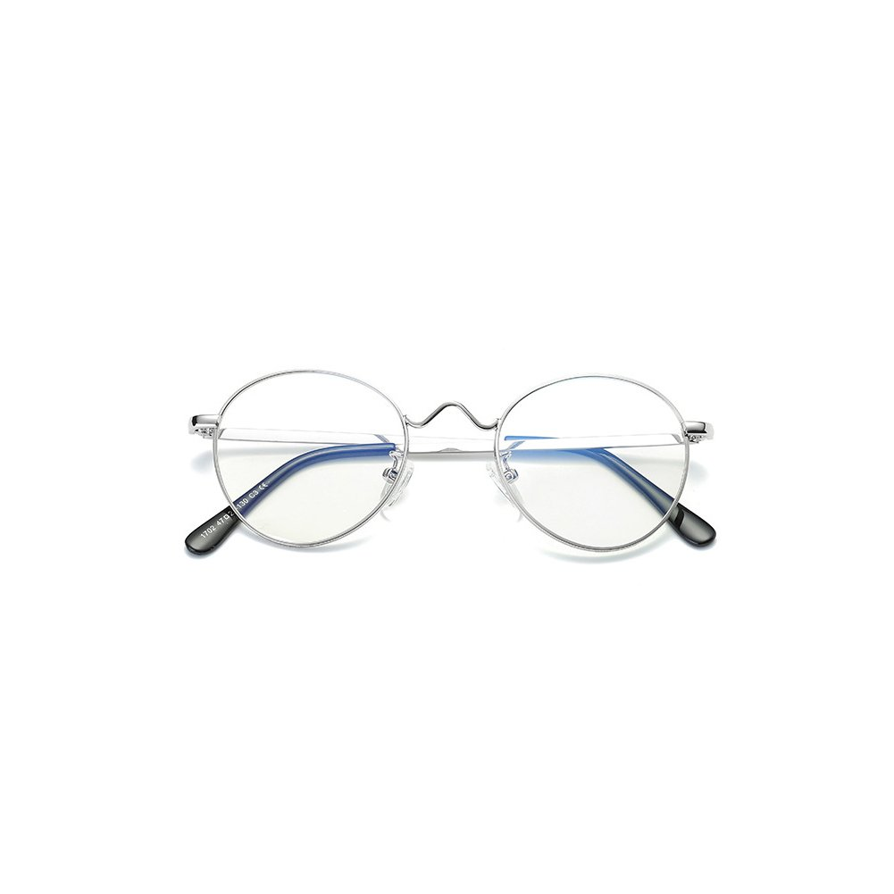 e004295fad2 Fulision Men Women Anti Blue Light Glasses - Metal Frame Round Eyeglasses  Clear Lens Glasses Frame  Amazon.co.uk  Clothing