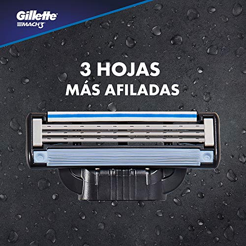Mach3 Gillette Afeitadora 4 Recambios Empaque Puede Variar