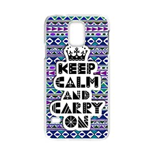 lintao diy Generic Keep Calm and Carry On Design Case 100% Plastic Case Cover for SamsungGalaxyS5 (Laser Technology)