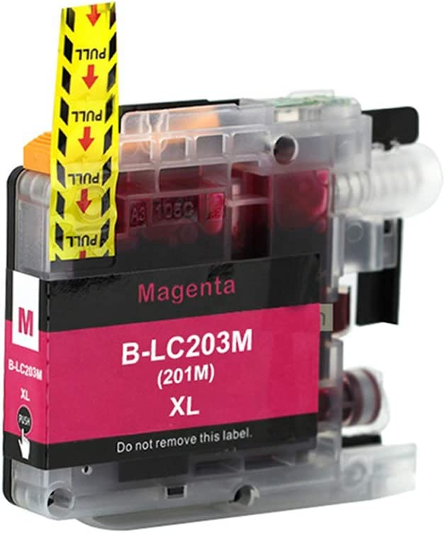 Ninjatoner Re-Manufactured Ink Cartridge Replacement for Brother LC203XL LC203 XL LC203BK LC203C LC203M LC203Y MFC-J480DW J485DW J5520DW J5620DW J5720DW J460DW J880DW J885DW BCMY, 5 Pack