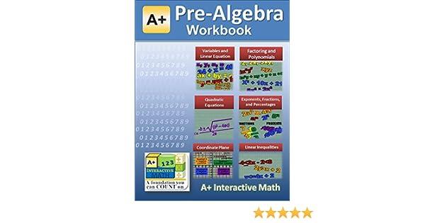 Math Worksheets math worksheets online free : Pre-Algebra (7th or 8th Grade) Math Workbook (Printed B&W Plasti ...
