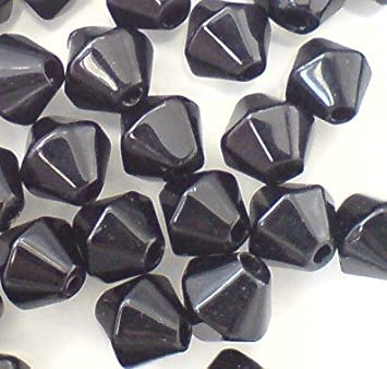 Black 200 x 4mm Crystal Glass Round Beads A3635