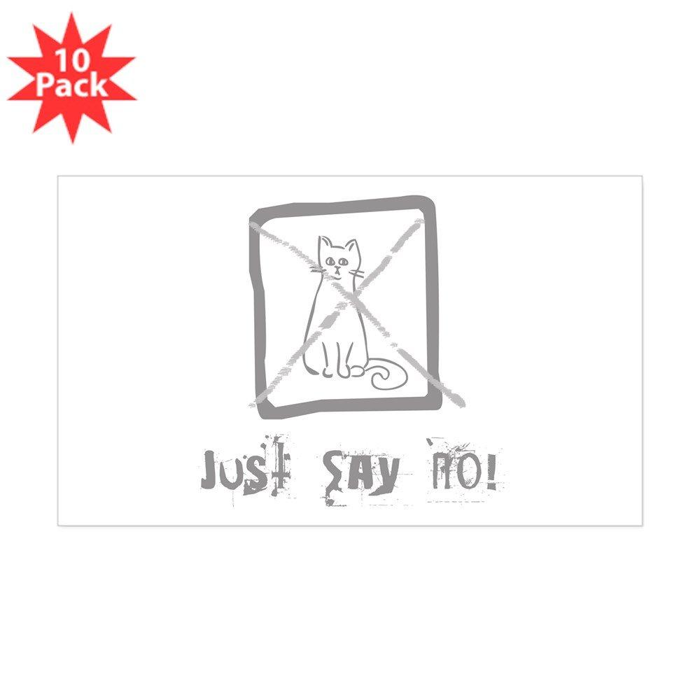 Amazon com: CafePress - No Cats Allowed Rectangle Sticker 10 Pk