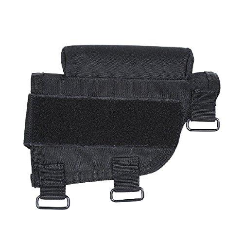 VooDoo Tactical 20-9421001000 Buttstock Cheek Piece With Ammo Carrier, Black