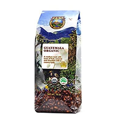 Java Planet - Guatemalan USDA Organic Coffee Beans, Medium Roast, Shade Grown, Bird Friendly, Rainforest Alliance, Arabica Gourmet Specialty Grade A