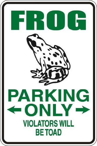 (StickerPirate Frog Parking Only Violators Will Be Toad 8