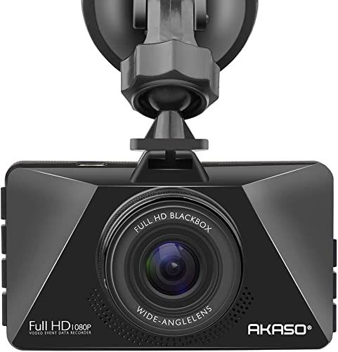 AKASO Dash Cam Car Dashboard Camera Recorder with 1080P Full HD 3 LCD Screen 170 Wide Angle Lens Loop Recording Night Vision C200