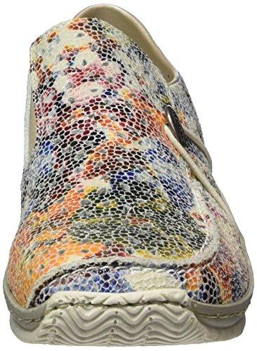 Scarpetta Da Donna Rieker Bicolore / Multicolore 942295-0 Ice-multi / Ocean