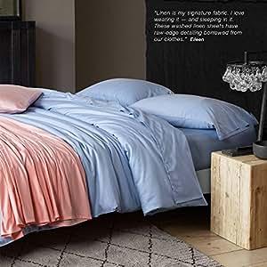 Advanced pure simple plain color cotton four piece Hotel bedding,King,U