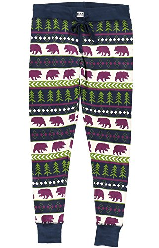 Lazy One Legging Christmas Pajama Sets For Women l Fun Animal Leggings Size XS - L (Large, Bear Fair Isle (Bears Womens Pants)