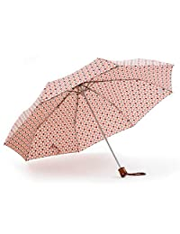 Ezpeleta Gotta Paraguas Plegable de la Marca Gotta, Color Rosa, Apertura y Cierre Manual, Resistente al Viento