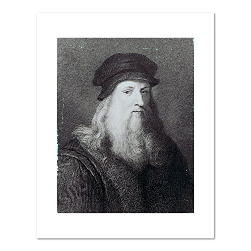 Leonardo da Vinci, engraved by Raphael Morghen by Leonardo da Vinci, 1817. Art Print