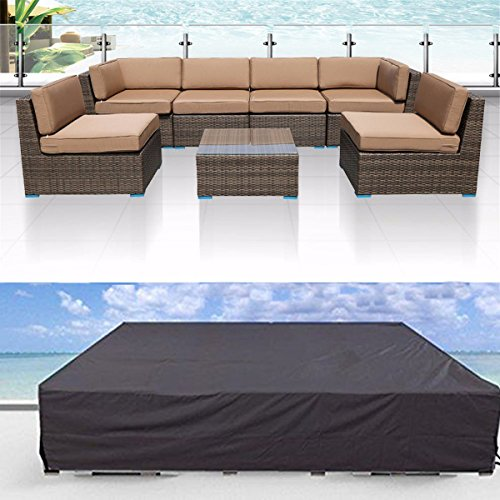 Veronica Patio Cover Outdoor Furniture Lounge Porch Sofa Waterproof Dust Proof Protective Loveseat Covers 315 x 160 x 74cm.