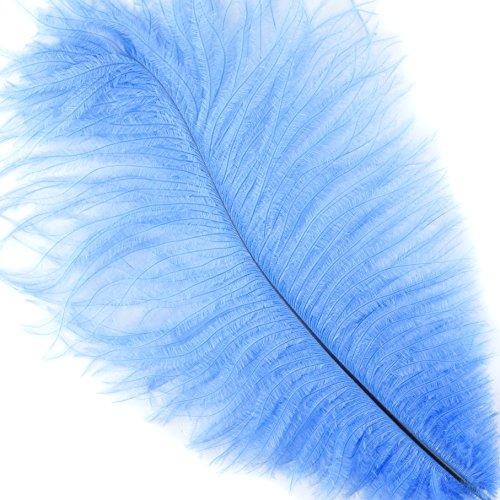 Zucker™ Ostrich Feathers - Drabs - 9 -12'' - 100pcs Sky Blue by Zucker