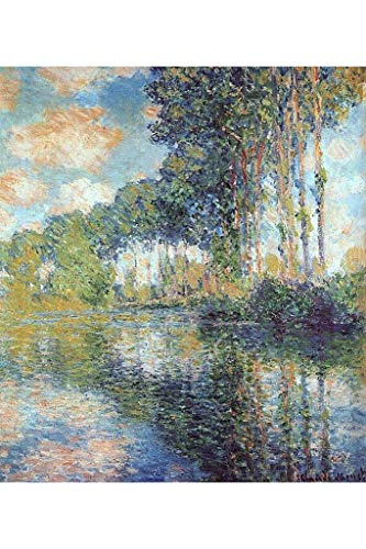 ymaotrade Claude Monet Poplars at The Epte 1900 Landscape Art Print Mural Giant Poster 18X24 inch