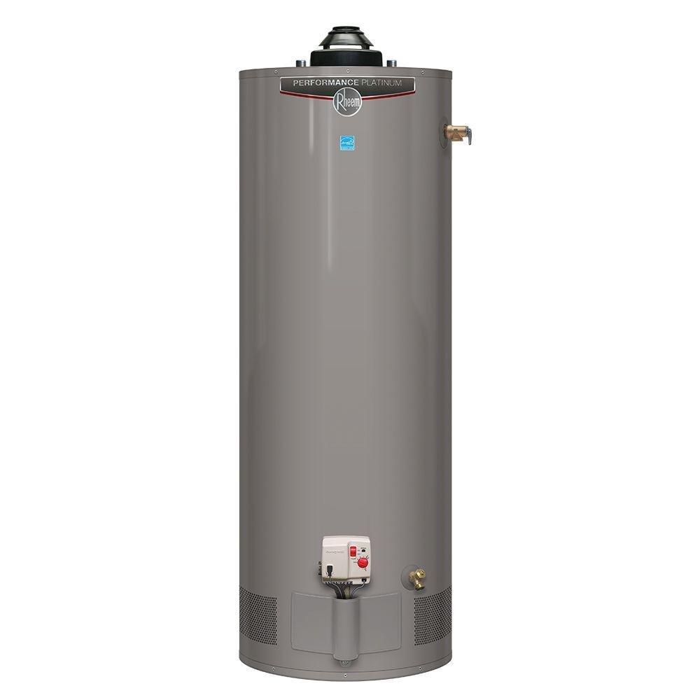 Rheem Performance Platinum 50 gal. Short 12 Year 40,000 BTU Energy Star Natural Gas Water Heater
