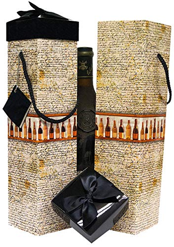 EndlessArtUS Wine Gift Box Medoc Bottles Collection Set of 2 Reusable Caddies Assemble in Seconds with Gift Tags Included - No Glue or Tape Required